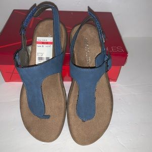Aerosoles Wip Stop Blue 420 Thong Sandals Sz 6M